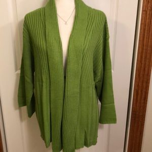 Denium &Co. Women's Green Cardigan